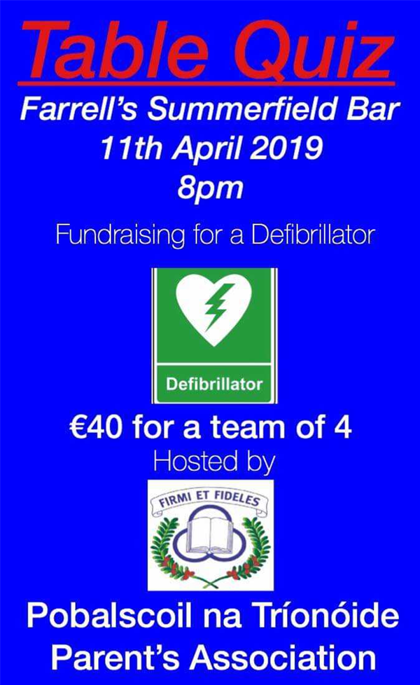 TABLE QUIZ FUNDRAISER