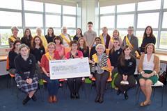 Cheque presentation to Irish Cancer Society